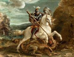 St George's Day (23 April). St George is the patron saint of England. The story goes that he slayed a man-eating dragon and saved a princess at the same time.