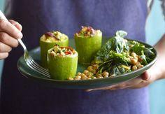 Squash og spinat- og kikertsalat | Iform.nu Squash, Sprouts, Protein, Healthy Recipes, Vegetables, Ethnic Recipes, Food, Food Food, Pumpkins