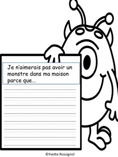 Parfait pour thème de monstre! Comptine, jeux, écriture...super pour les ateliers et la différentiation! Teaching French Immersion, French Poems, French Flashcards, French Teaching Resources, Interactive Journals, Core French, French Teacher, Play Based Learning, Classroom Language