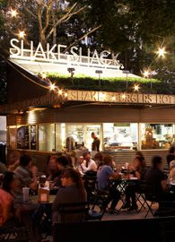 Shake Shack sprouted from a hot dog cart in Madison Square Park in Manhattan created by Danny Meyer's Union Square Hospitality Group (USHG) to support the Madison Square Park Conservancy's first art installation. The cart was quite the success, with Shack Fans lined up daily for three summers.