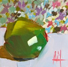 Angela Moulton - daily painting. http://angelamoulton.blogspot.com/2015/05/lime-no-14-painting.html