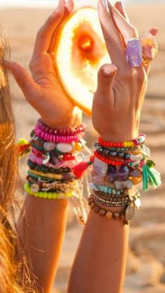 Ibiza style colourful bracelets