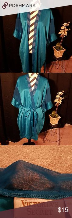 Victoria's Secret Robe It's in good condition. It is a teel color with a sheer material on the arms. Victoria's Secret Intimates & Sleepwear