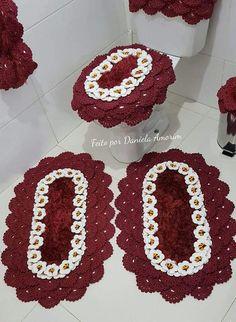 Crochet Mandala Pattern, Crochet Patterns, Chrochet, Knit Crochet, Owl Bathroom, Rag Quilt Patterns, Crochet Kitchen, Plastic Canvas, Crochet Flowers