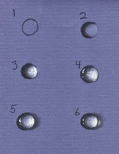 http://learntodrawandpaint.blogspot.com/2014/12/how-to-draw-3d-water-drops-with-pastel-in-6-simple-steps.html