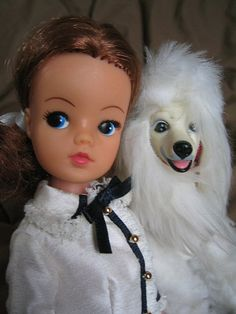 """""""Love my poodle"""" Sindy Doll, My Youth, Vintage Girls, Ooak Dolls, Poodles, My Childhood, Fashion Dolls, Lord, Friends"""