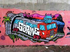 Optimus line! Still one of my fav walls Graffiti Books, Graffiti Doodles, Graffiti Tattoo, Graffiti Writing, Graffiti Cartoons, Graffiti Tagging, Graffiti Characters, Graffiti Wall Art, Graffiti Lettering