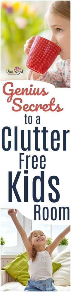 Struggling with a cluttered kids bedroom? We're sharing our GENIUS secrets to a clutter-free kids room that are super simple but powerful! Give your child the gift of a welcoming, serene bedroom by kicking clutter to the curb! #parentingtips #motherhood #decluttering #cleaningkidsroom #declutterkidsroom #kidsroomideas #parentinghack #getorganized #nomoreclutter