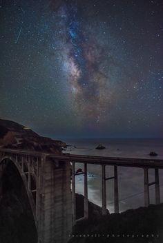 Bixby Bridge Milky Way - Travel - Santa Barbara Edhat Bixby Bridge, Big Sur, Milky Way, Santa Barbara, Cosmos, Northern Lights, Coastal, California, Community