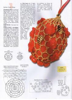 Christmas ornament with diagram Crochet Christmas Decorations, Holiday Crochet, Easter Crochet, Crochet Art, Christmas Ornaments, Christmas Ideas, Homemade Christmas Presents, Egg Tree, Dmc