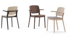 Mia stacking chair by Jin Kuramoto for Japanese design brand MEETEE.