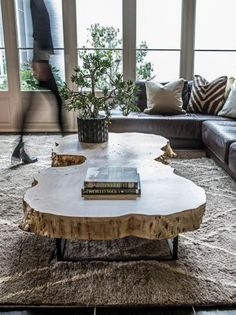 Rustic Tree Trunk Coffee Table