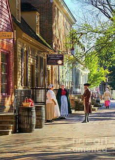 Costumers at the James Craig Jeweller Colonial Williamsburg by Karen Jorstad
