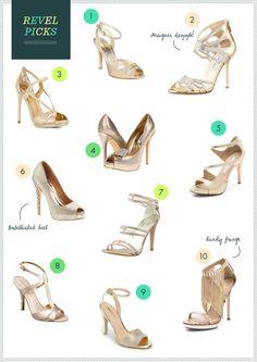 Glitzy Gold Wedding Shoes