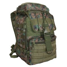 Fox Outdoor Products Flanker Assault Pack Digital Woodland -- Be sure to check out this awesome product. Survival Backpack, Tactical Backpack, Camping And Hiking, Hiking Gear, Hiking Packs, Best Hiking Backpacks, Assault Pack, Outdoor Bar Stools, Hiking Essentials