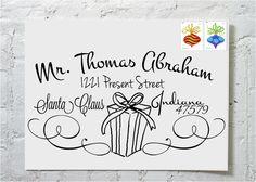 Christmas Card Gift Calligraphy Envelope Addressing via Etsy. Envelope Lettering, Calligraphy Envelope, Envelope Art, Envelope Design, Hand Lettering, Envelope Printing, Calligraphy Invitations, Wedding Calligraphy, Caligraphy