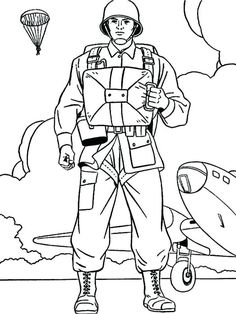Army Man | Veterans day coloring page, Coloring pages ...