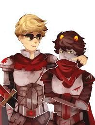 Knight of time and knight of blood! (Dave and Karkat)  (≖‿‿≖) (≖‿‿≖)