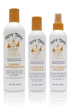 Natural shampoo + conditioner for kids that helps tame beachy, chlorinated hair!