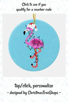 Cute Sketches, The Special One, Happy Cartoon, Personalized Christmas Ornaments, Tree Designs, Pet Gifts, Flamingo, Ceramics, Custom Christmas Ornaments