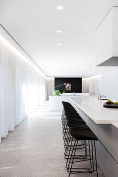 Modern home design Minimalist Interior, Minimalist Home, Modern Interior Design, Interior Architecture, Monochrome Interior, Modern Interiors, Contemporary Interior, Best Kitchen Designs, Modern Kitchen Design