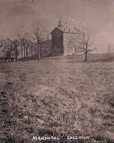 A photo of Marshall College in Huntington, WV taken in the 1880s