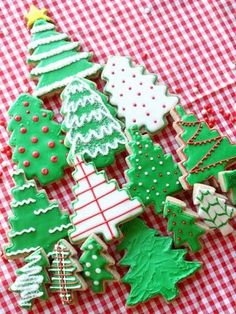 62 Best Christmas Tree and Wreath Cookies images in 2019