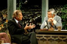 """1972 when Billy Graham appeared on The Tonight Show with Johnny Carson. Johnny once asked Billy, """"Billy, why would you come on a show with worldly people like us?"""" Billy cleverly answered, """"Johnny, even Jesus ate with publicans and sinners!"""""""