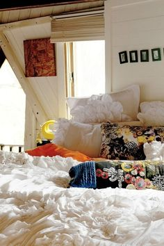 Fluffy white bedspread :)