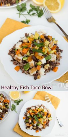 Simple & Healthy Fish Taco Bowl