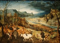 ピーテル・ブリューゲル「牛群の帰り」(1565)