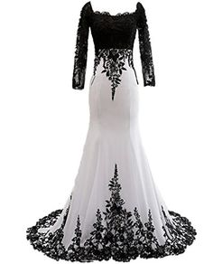 bea1a12936b88 Ever Girl Women's Mermaid Long Evening Gowns Lace Prom Dresses with Sleeves  ** Wow!