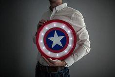 Captain america shield light Captain america lamp Captain