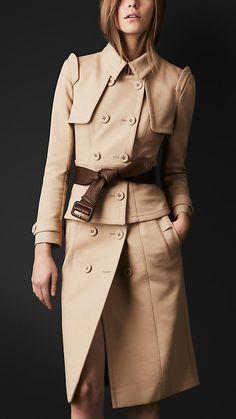 Burberry Prorsum Corset Trench Coat