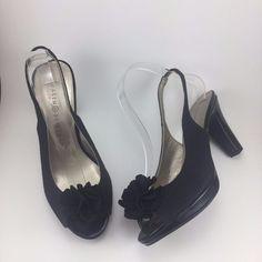 Karen Scott Bloom Women's Peep Toe Slingback Sandals Shoes Black 7 M #KarenScott #Slingbacks #Any