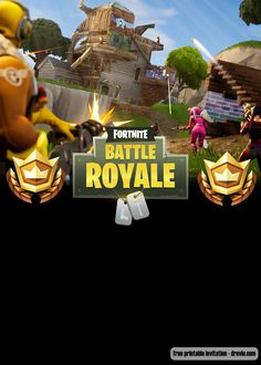 Welcome to Fortnite Battle Royale party! Celebrate your birthday with our free printable Fortnite birthday invitation template! Celebrate your birthday party with your favorite game, and save the money. Free Printable Invitations Templates, Templates Free, 9th Birthday Parties, Boy Birthday, Party Invitations, How To Memorize Things, Battle, Video Game, Birthdays