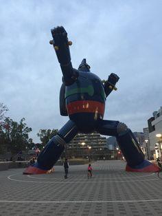 Kobe Japan. 18 meter tall Tentsujin28-go or Gigantor in English.