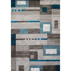 Lend a wonderful addition to your floor space with the help of this highly durable United Weavers Studio Percussion Aqua Indoor Area Rug. Aqua Blue, Blue Grey, Color Blue, Beige Color, Rectangular Rugs, Percussion, Woven Rug, Blue Area Rugs, Rug Runner