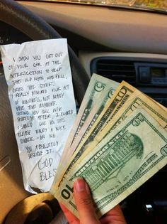 Someone payed it forward!