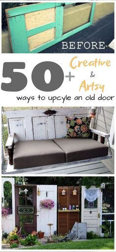home accessories diy If you have an old door, you can turn it into a stunning piece for the home with these genius upcycling ideas. The DIY home improvement projects will help you turn an old door into an artsy piece for your home. Ikea Algot, Recycled Door, Recycled Crafts, Diy Upcycled Decor, Diy Upcycling, Repurposing, Old Door Projects, Home Projects, Old Door Crafts