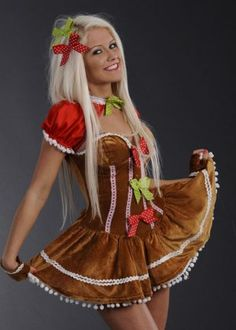 Sexy gingerbread costume