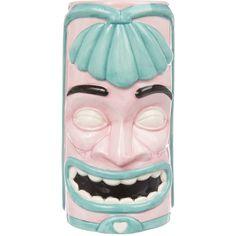 HowCool.com - Sourpuss Clothing 17168 - $25.95 - Pink and Turquoise Retro Style Tiki Mug
