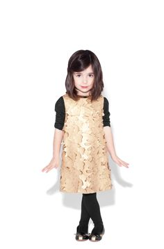 Little Marc Jacobs winter 2012 stunning laser cut leather dress, a mini me look from the main Marc Jacobs collection