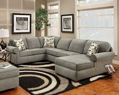 Brown Squirrel Furniture - gray sectional
