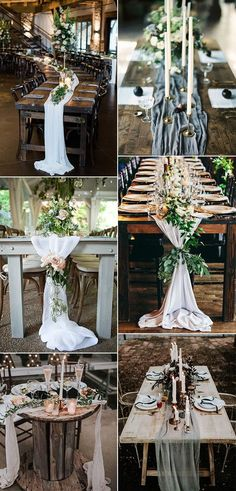 27 Amazing Table Runner Ideas for Your Wedding Reception trending wedding centerpiece ideas with fab Wedding Table Centerpieces, Wedding Flower Arrangements, Flower Centerpieces, Wedding Favors, Wedding Decorations, Centerpiece Ideas, Wedding Crafts, Long Wedding Reception Tables, Wedding Table Runners