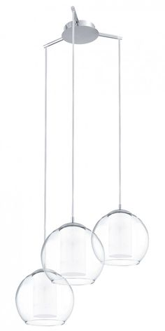 Pendant Light Three Clear Glass E27 In 51cm Bolsano Eglo Lighting | Pendants  U0026 Chandeliers | Awesome Ideas