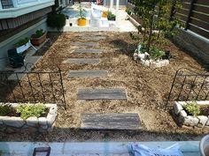 クラピアのお庭作り