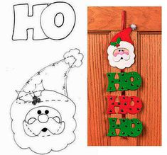 Christmas Sewing, Christmas Art, Christmas Ornaments, Felt Crafts, Diy And Crafts, Crafts For Kids, Pumpkin Coloring Pages, Felt Christmas Decorations, 242
