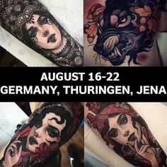 🇩🇪!!Germany!!🇩🇪 I'm going to work in Jena in August 16-22. If you interested to get tattoo by me please email locoartista.tattoo@gmail.com
