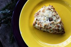 Freeze and Bake Bacon Cheddar Scallion Scones | frozen prior to baking = delicious make ahead baked goods.
